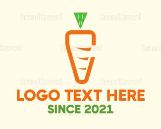Carrot - Minimalist Carrot  logo design