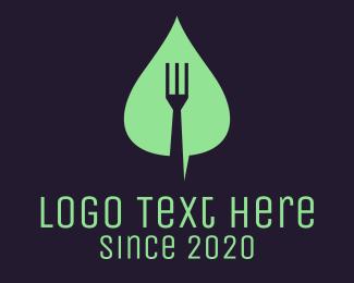 Leaf Fork Vegan Food logo design