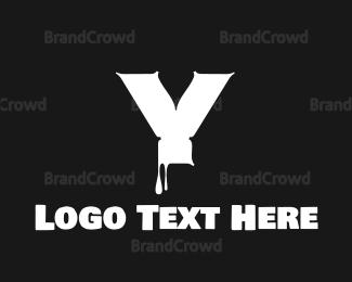 Comic Book - Liquid Letter Y Font logo design