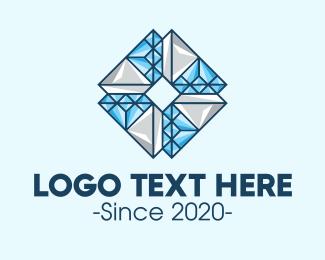 Miner - Diamond Crystal Letter O logo design