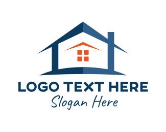 House Buying - Blue Modern Home logo design