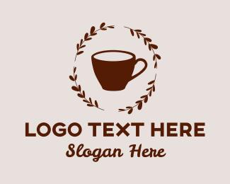 Artisan - Coffee Cup Wreathe logo design