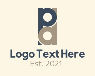Overlap Letter P & D Logo