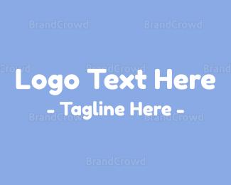 Friend - Baby Blue Text logo design