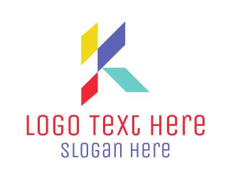 Letter K - Abstract K logo design