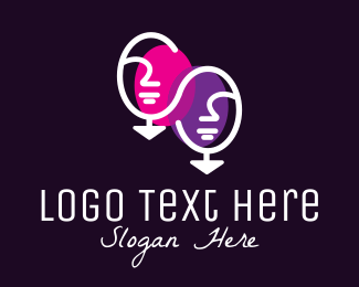 Facial - Elegant Face Mirror logo design