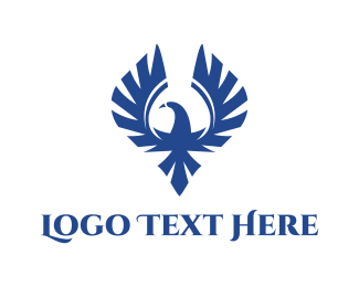 Investment Bank - Blue Wild Falcon logo design