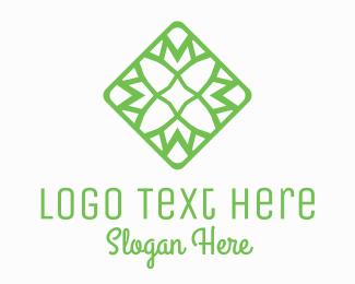 Brand - Green Flower Tile logo design