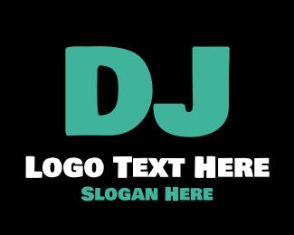 Dj - DJ Letter logo design