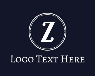 Lettermark Z - White Z Coin logo design