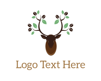 Gazelle - Deer Coffee logo design