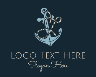 J - Anchor Rope Letter J logo design