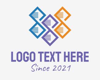 Biotechnology - Multicolor DNA Strand logo design