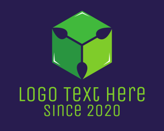 Crate - Green Box logo design