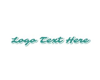 Nail Salon - Breezy &  Blue logo design