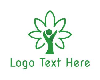 Person - Cannabis Person logo design