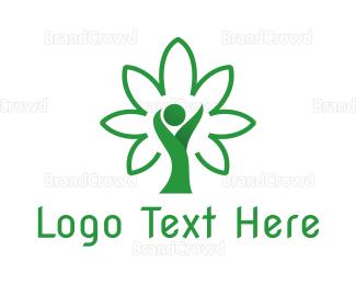 Cbd - Cannabis Person logo design