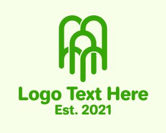 Arch - Green Arch Tree logo design