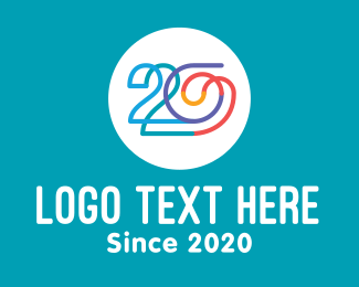 Calendar - Colorful 20th Century logo design