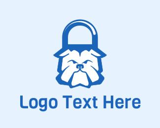 Tough - Bulldog Padlock logo design