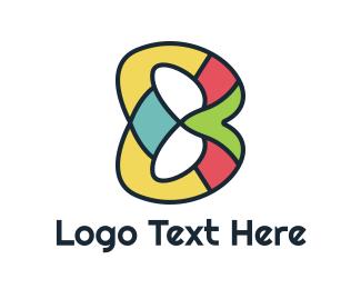 Educational - Colorful Infinity B logo design