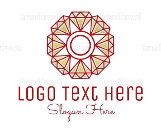 Emerald - Diamond Flower logo design