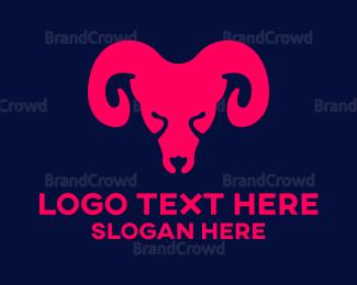 Silhouette - Modern Ram Silhouette logo design