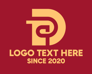 Unique - Gold Luxury Letter D logo design