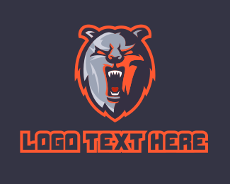 Playoffs - Grizzly Bear Mascot logo design
