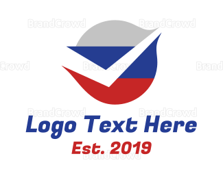 Approval - Russian Flag Check logo design