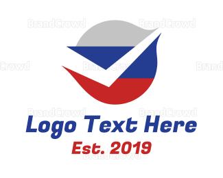 Checklist - Russian Flag Check logo design