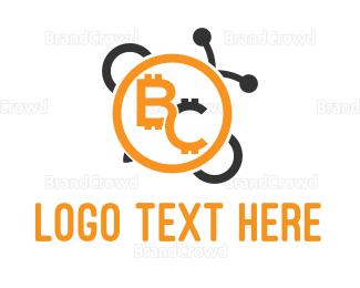 Blockchain - Bee Coin logo design