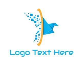 Tech Origami Bird Logo