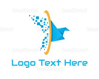 Craft - Tech Origami Bird logo design