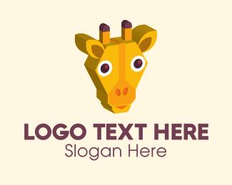 Childrens - 3D Kids Giraffe  logo design