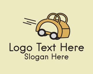 Shop - Fast Shopping Bag  logo design