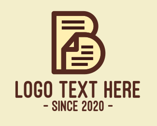 Essay - Paper Document Letter B logo design