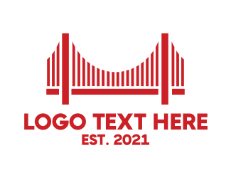 Us - Red Bridge logo design