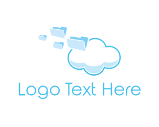 Document - Cloud Files logo design