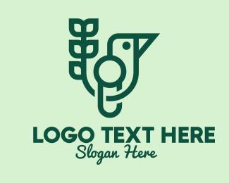 Natural Product - Green Eco Bird logo design
