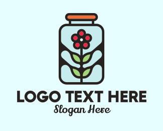 Preservation - Jar Flower Preservation logo design