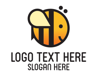 Wasp - Cute Round Bee logo design