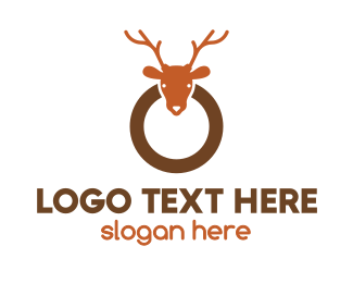 Ring - Reindeer Ring logo design