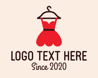 Model - Fashion Red Dress logo design