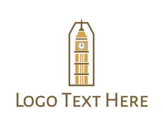 Britain - Abstract Clock Tower logo design