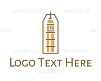 England - Abstract Clock Tower logo design