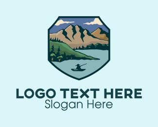 Fisherman - Outdoor Fisherman Badge logo design