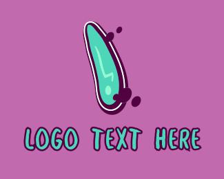 Mural - Modern Graffiti Letter I logo design