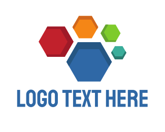 Honeycomb - Colorful Honeycomb logo design