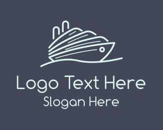 Destroyer - Cruise Ship Ferry logo design
